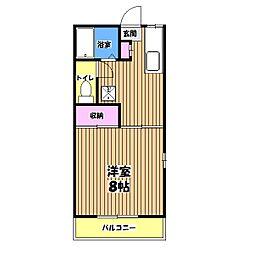 メゾン・ド・ピュアA棟[2階]の間取り