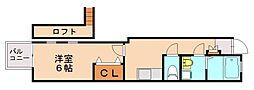 福山アパート[1階]の間取り
