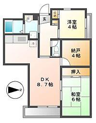 マンション汐見II(F・G棟)[2階]の間取り