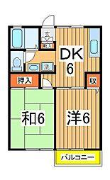 千葉県我孫子市中峠台の賃貸アパートの間取り