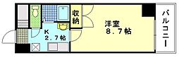 広島県広島市西区上天満町の賃貸マンションの間取り