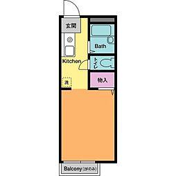 ドミールHASE A[2階]の間取り