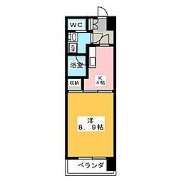 エクシード田町[7階]の間取り