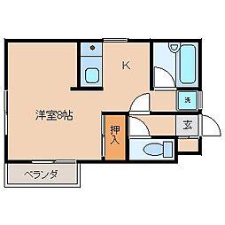セレニティ川添 A棟[3階]の間取り