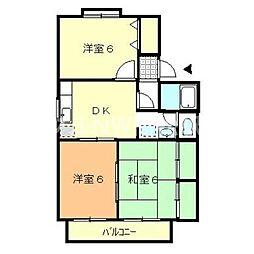 香川県高松市香川町川東上の賃貸アパートの間取り