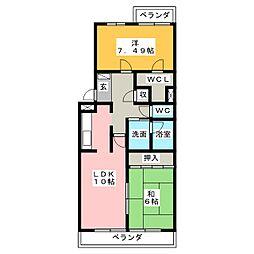 ウィステリア32[4階]の間取り