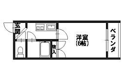 D'S RANA[203号室]の間取り