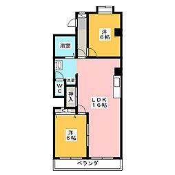レジデンス萩[2階]の間取り