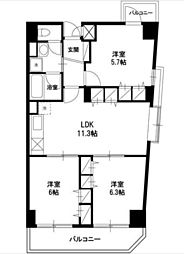 CREA・H[5階]の間取り