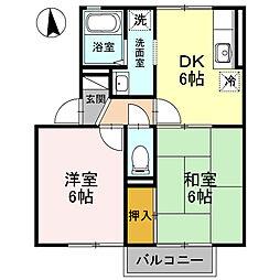 ロビュスト三栄[102号室]の間取り