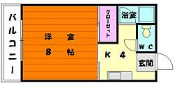 コーポ奈須[2階]の間取り