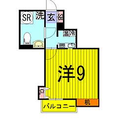 千葉県柏市光ケ丘2の賃貸アパートの間取り