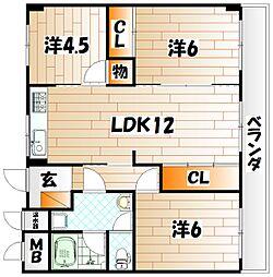 緑ヶ丘スカイマンション[3階]の間取り