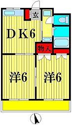 千多慶マンション[303号室]の間取り