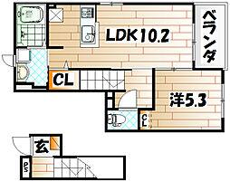 エクスクルーシブII[2階]の間取り