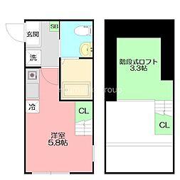 ハーミットクラブハウス戸塚IV(仮称) 1階ワンルームの間取り