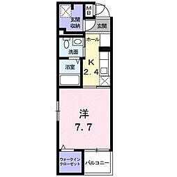 モデルノ関町[5階]の間取り