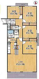 家事室のある4LDK。洗濯機からバルコニーまで一直線居室も広めです。