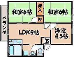広島県広島市安芸区上瀬野2丁目の賃貸アパートの間取り