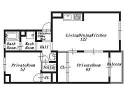 トリヴァンベールS[2階]の間取り