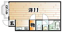 アパートメントオムニ[2階]の間取り