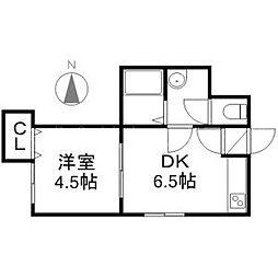 北海道札幌市中央区南六条西16丁目の賃貸アパートの間取り