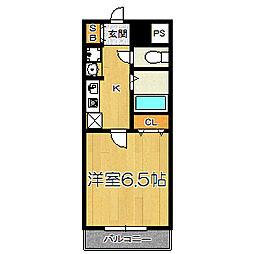 グランパシフィック十三[3階]の間取り