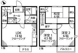 オリーブハウス[1階]の間取り