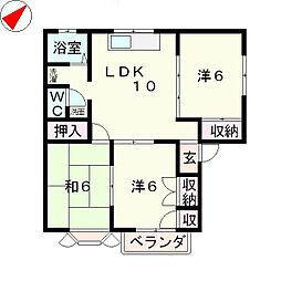 ファミール4[1階]の間取り