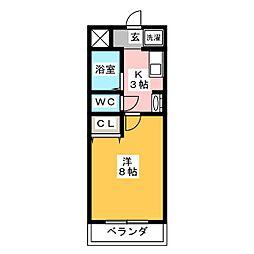 アーバンライフ錦[5階]の間取り