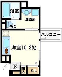 プロシード北堀江[9階]の間取り