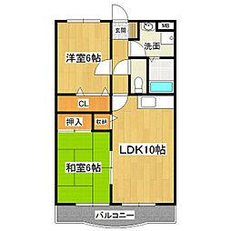 アライマンション[2階]の間取り