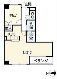 フローラ千代田[2階]の間取り