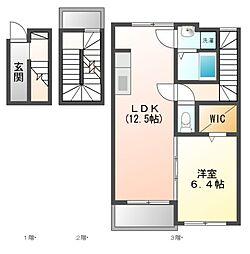 キャラ東海[3階]の間取り