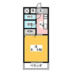 エクシヴ22[2階]の間取り