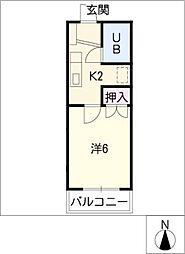 メゾンルージュ[1階]の間取り