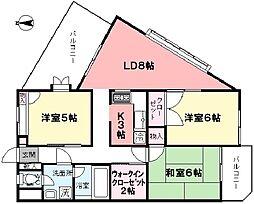 草夢(ソウム)[301号室]の間取り