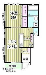 JR総武線 吉祥寺駅 バス21分 中原小学校下車 徒歩7分の賃貸アパート 1階1LDKの間取り