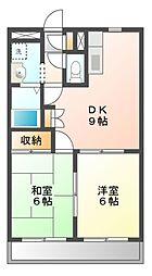 千葉県船橋市三山5の賃貸アパートの間取り