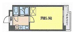 福岡県北九州市小倉南区蜷田若園1丁目の賃貸マンションの間取り