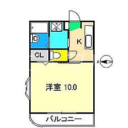 ミレニアム司[3階]の間取り