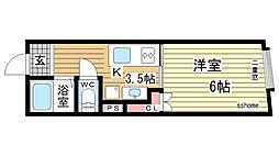 品川マンション[3B号室]の間取り