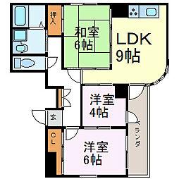 ANSWER21[6階]の間取り