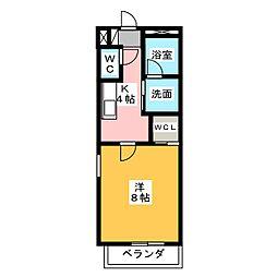ブランシェ長田[3階]の間取り