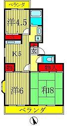 サニーハイツ清宮[1階]の間取り