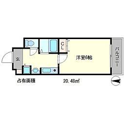 プレサンス京大東[2階]の間取り