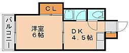 エルポルテ博多[2階]の間取り