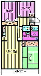 サンモール大宮[4階]の間取り