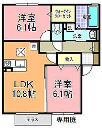 仮)D−room寄井 F[103号室]の間取り