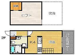 Full House Wakazono[2階]の間取り